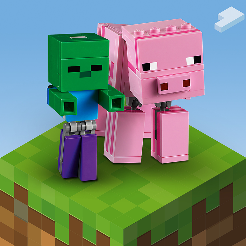 LEGO® 21157 Minecraft™ BigFig Pig with Baby Zombie - My Hobbies