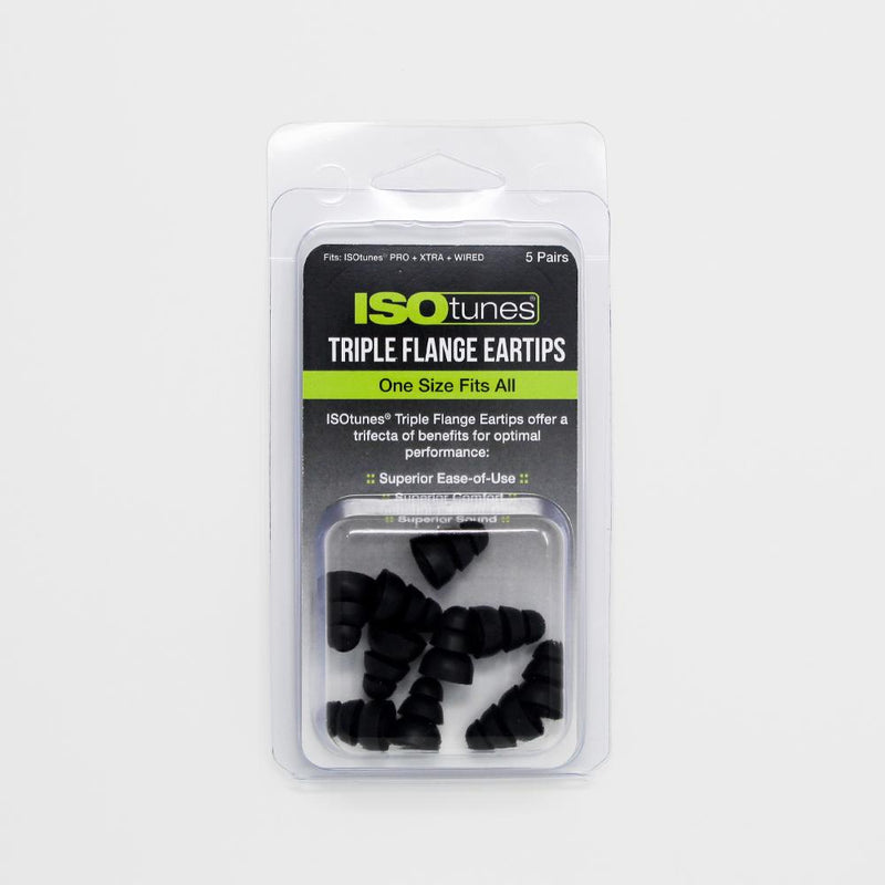 ISOtunes Triple Flange Eartips (5 Pair Pack)