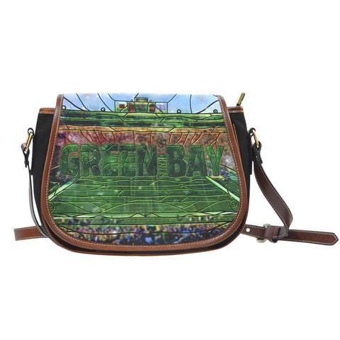 Green Bay Football Stained Glass Saddlebag