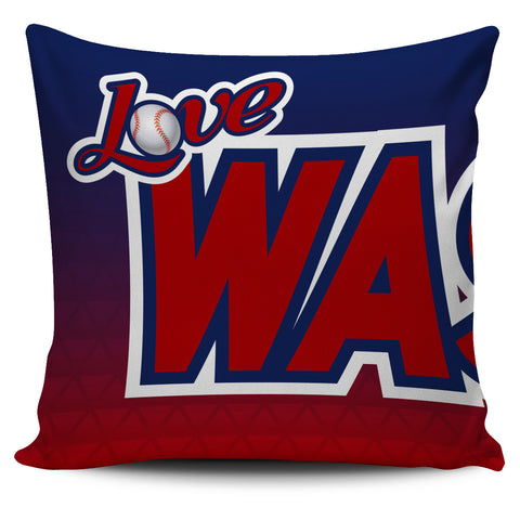 Love Washington Baseball Pillow Covers
