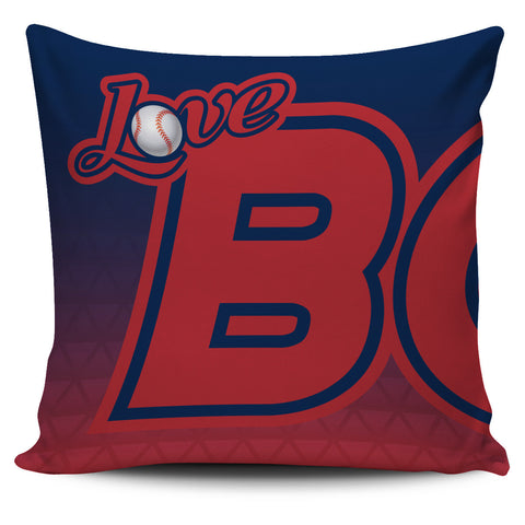 Love Boston Baseball Pillow Covers