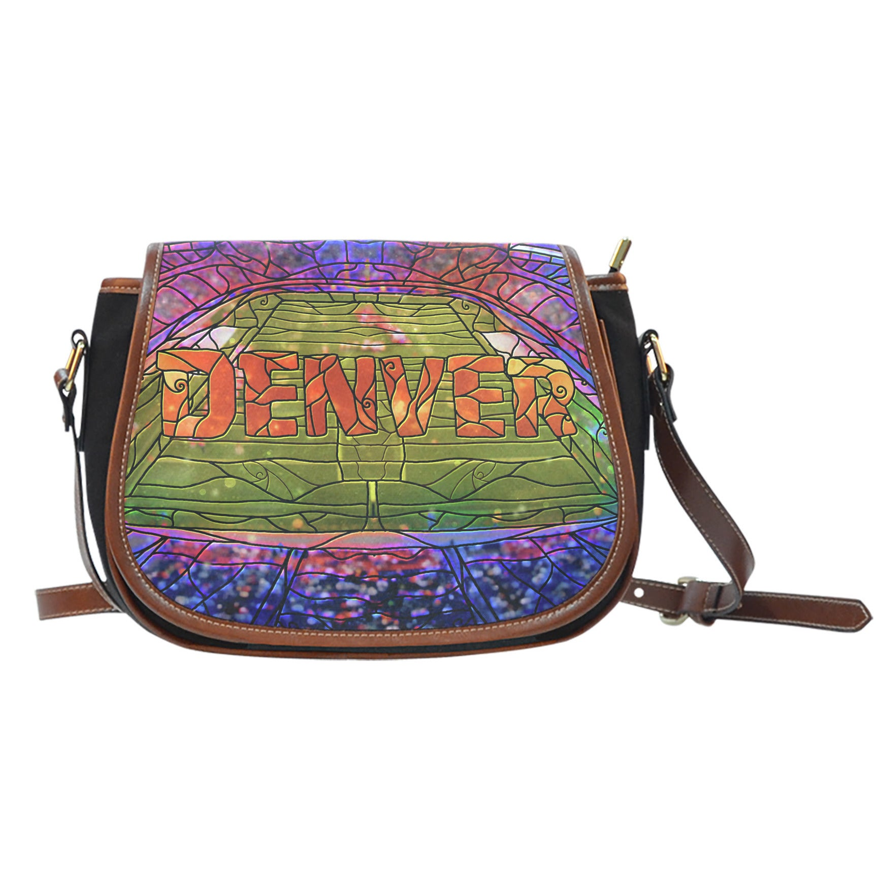 Denver Football Stained Glass Saddlebag
