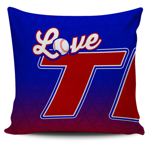 Love Texas Baseball Pillow Covers
