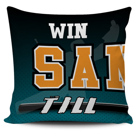 Win Lose or Tie San Jose Hockey Pillow Covers