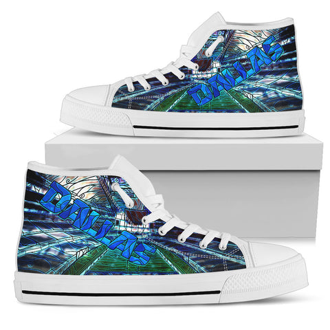 Dallas Football Stained Glass Shoes
