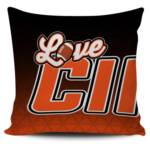 Love Cincinnati Football Pillow Covers