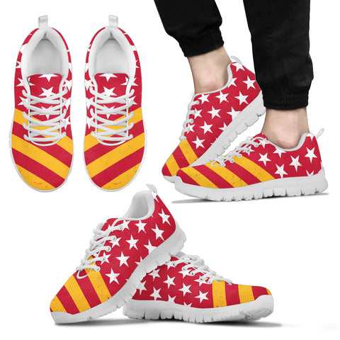 Kansas City Football American Flag Sneakers