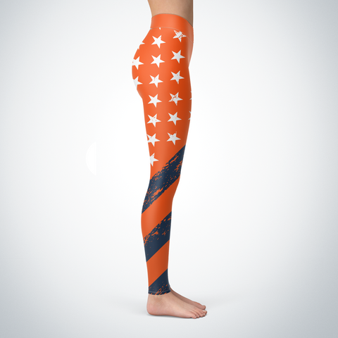 Denver Football American Flag Leggings