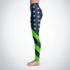 Seattle Football American Flag Leggings v2