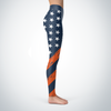 Denver Football American Flag Leggings v2