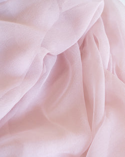 Tono + co Gossamer Silk Textile in Blush. Perfect for styling, tabletop design, detail work, or as a table runner. Find your inspiration through color and silk. Lovingly hand-dyed in Santa Ana, California and available in 24 signature colors. Check out our website for more styling, flat-lay, and color tips.