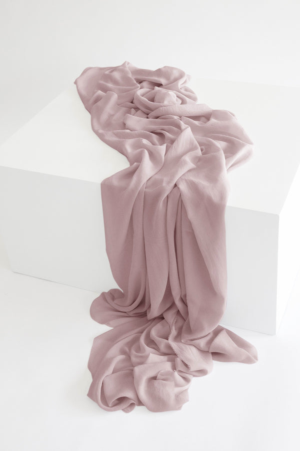 Tono + co Classic Silk Textile in Blush. Perfect for styling, tabletop design, detail work, or as a table runner. Find your inspiration through color and silk. Lovingly hand-dyed in Santa Ana, California and available in 24 signature colors. Check out our website for more styling, flat-lay, and color tips.