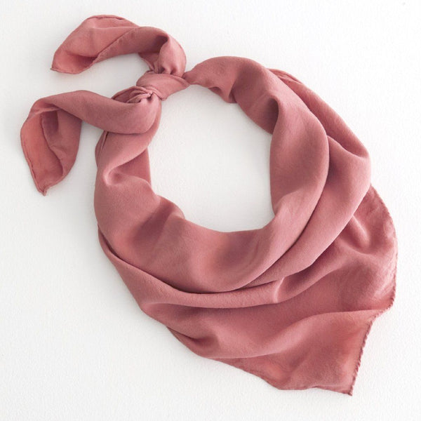 'The Classic' Washable Silk Scarf in Coral