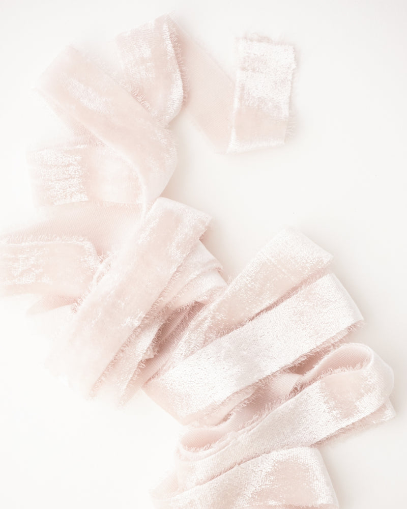 Blush Silk Velvet Ribbon