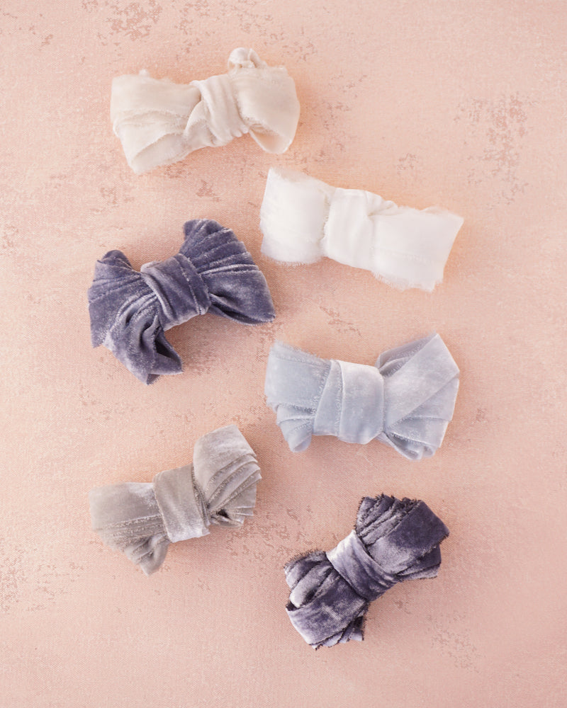 Dove Silk Velvet Ribbon
