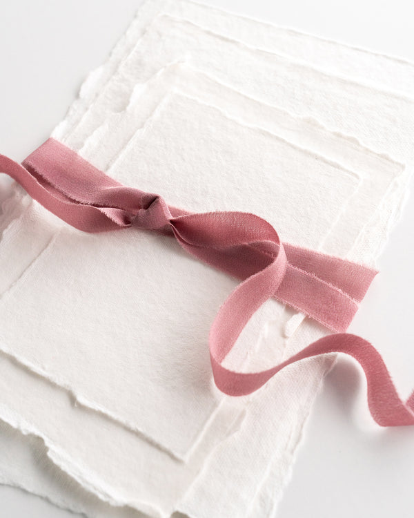 Rose Silk Ribbon Trim