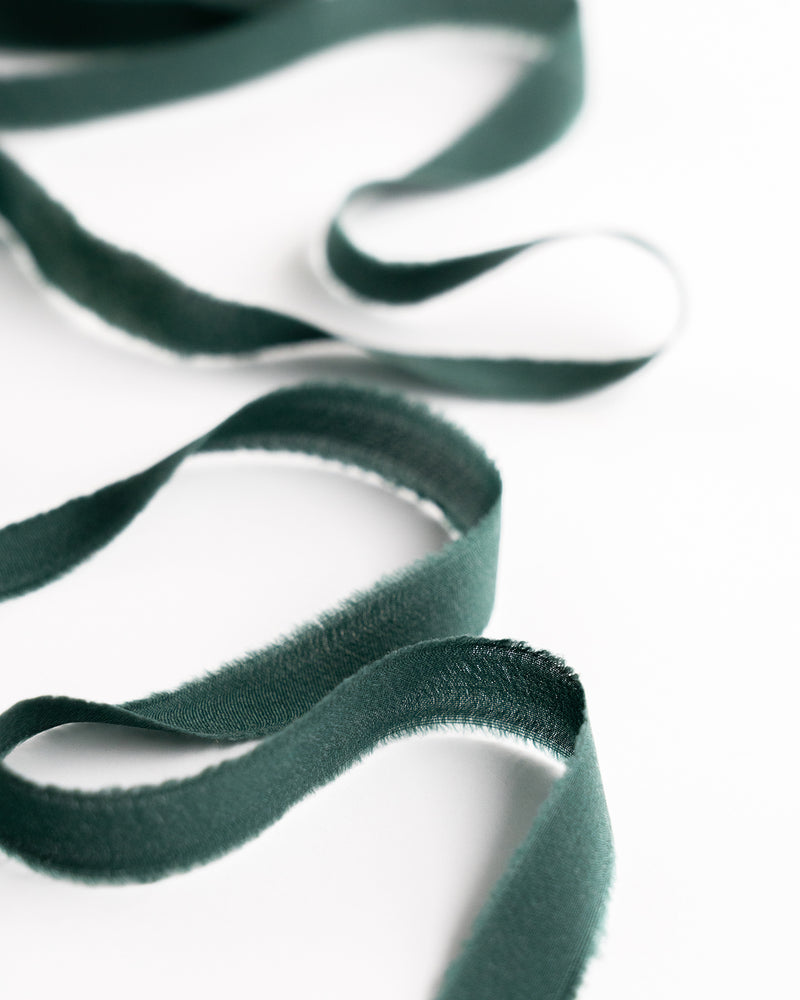 Moss Silk Ribbon Trim