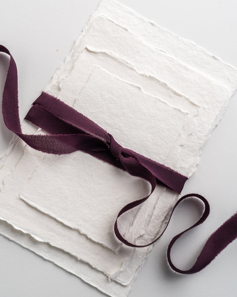 Aubergine Silk Ribbon Trim