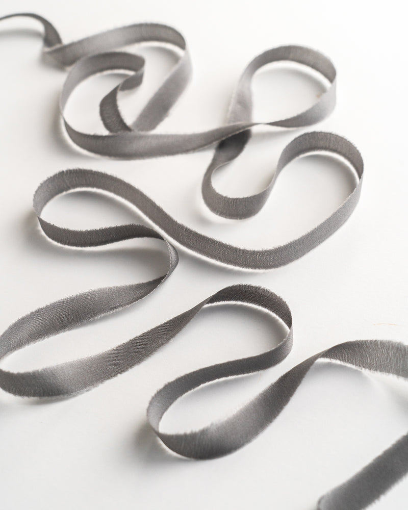 Slate Silk Ribbon Trim