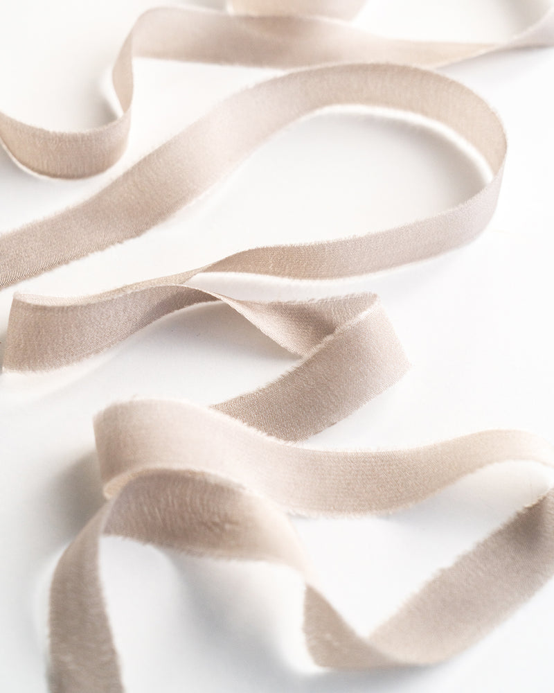 Dove Silk Ribbon Trim