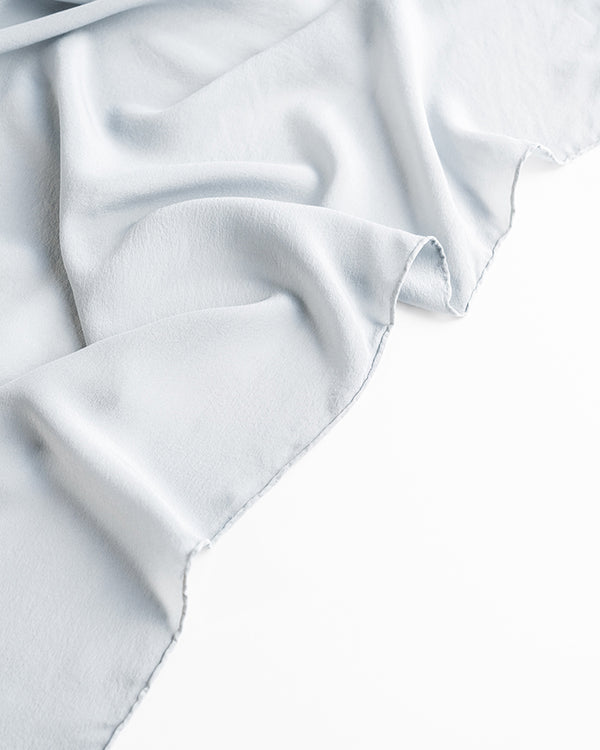 'The Classic' Washable Silk Scarf in Cloud