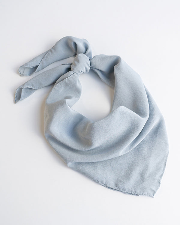'The Classic' Washable Silk Scarf in Sky