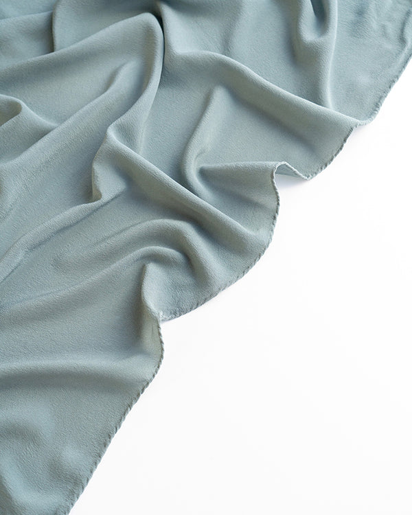 'The Classic' Washable Silk Scarf in Lake