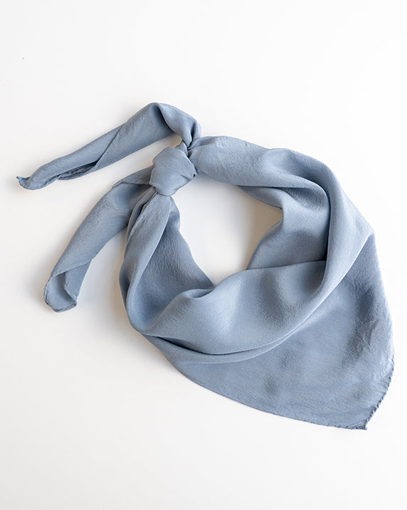 'The Classic' Washable Silk Scarf in Sea