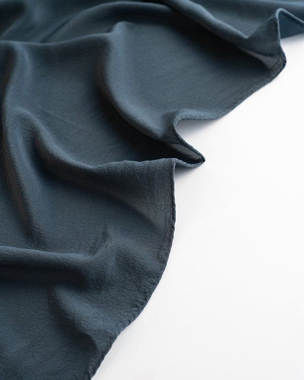 'The Classic' Washable Silk Scarf in Ocean
