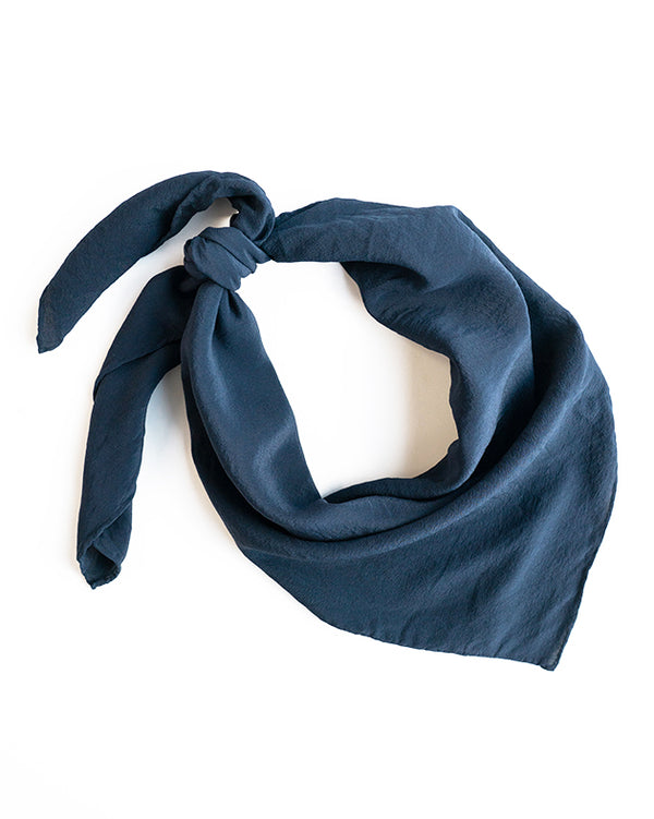 'The Classic' Washable Silk Scarf in Storm