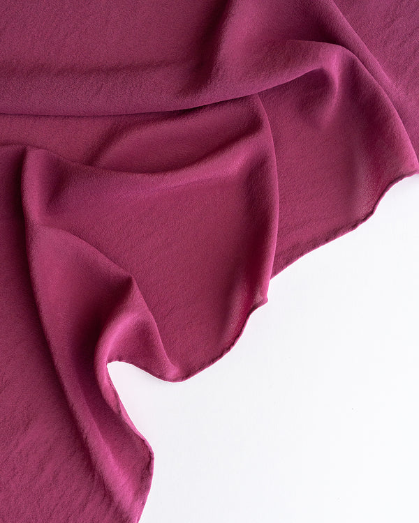 'The Classic' Washable Silk Scarf in Rhubarb
