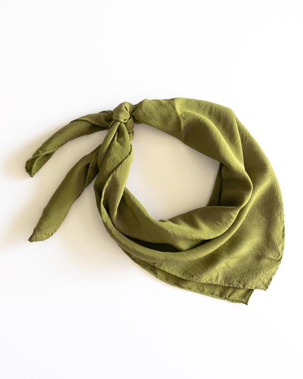 'The Classic' Washable Silk Scarf in Lichen