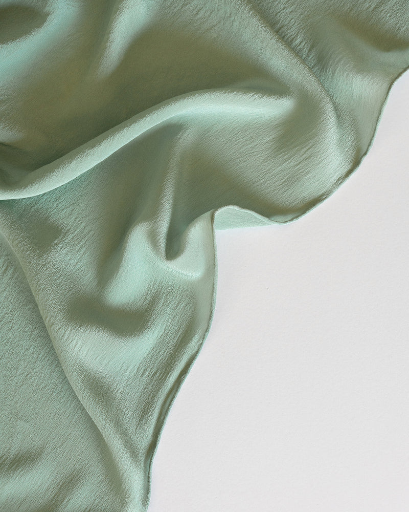 'The Classic' Washable Silk Scarf in Celadon