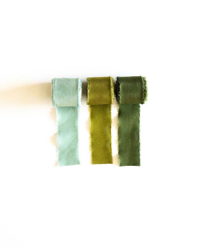 Classic Silk Ribbon in Olive
