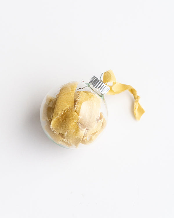 Silk-Filled Ornament in Honey