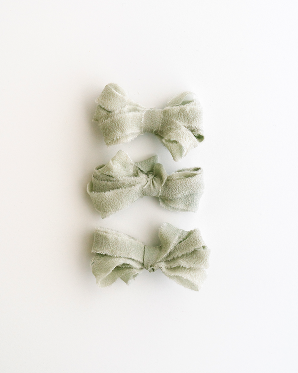 Sage Silk Ribbon Trim