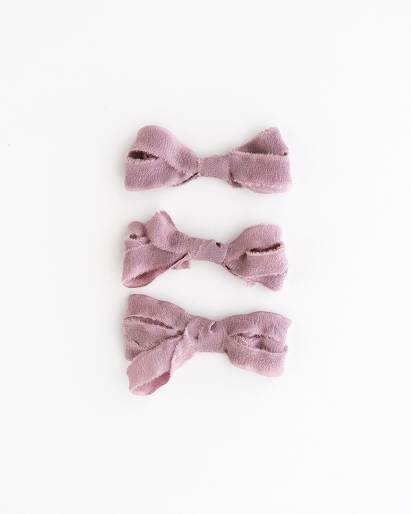 Mauve Silk Ribbon Trim