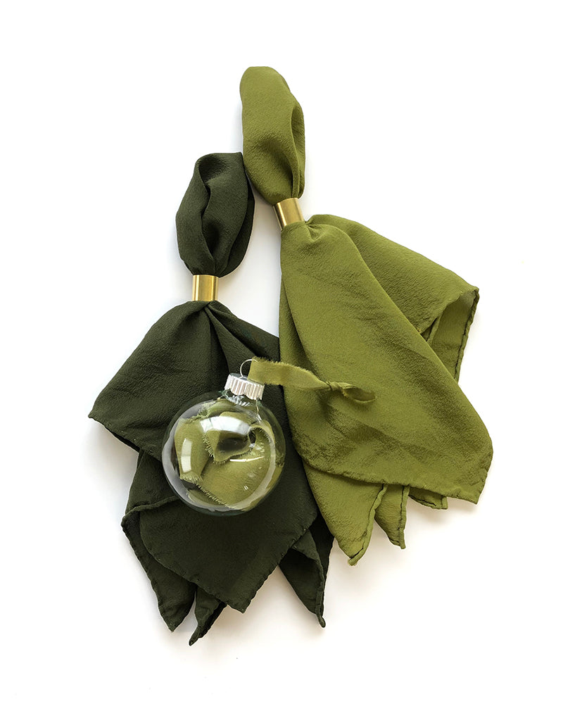 'The Hankie' Washable Silk Scarf in Lichen