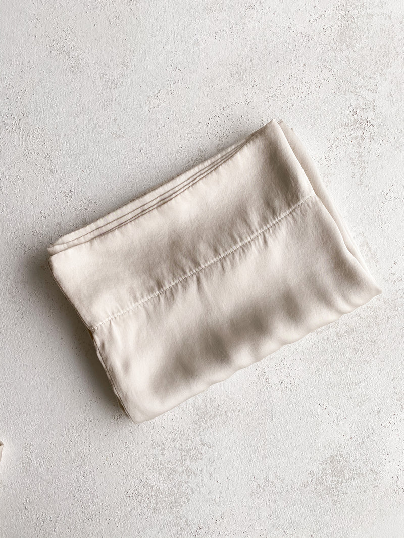 Silk Pillowcase in Bone