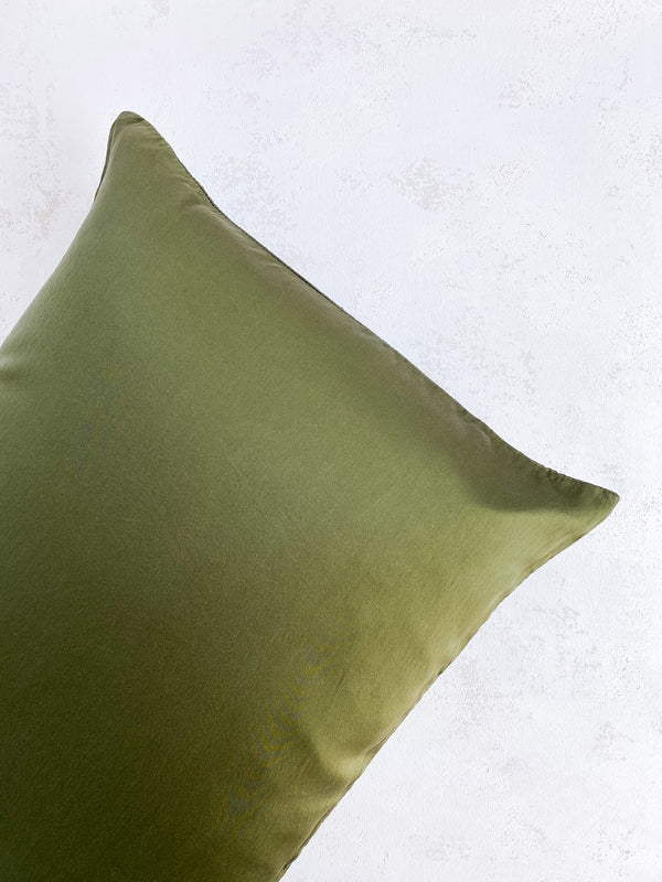 Silk Pillowcase in Olive