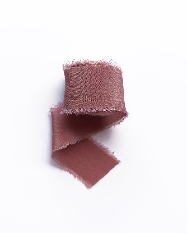 Dusty Rose Silk Classic Ribbon 045