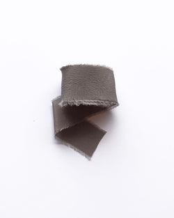 Dark Grey Silk Classic Ribbon 118