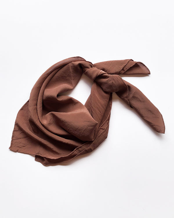 Chocolate Brown Silk Scarf 046