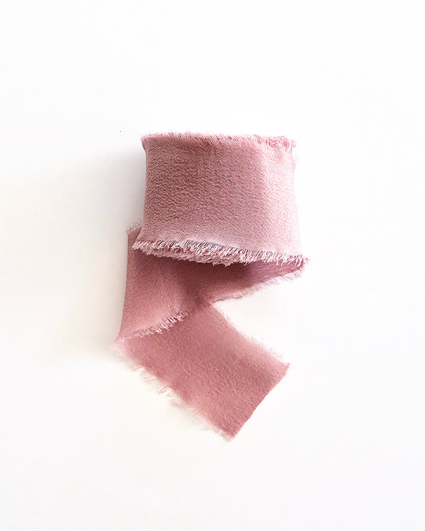 Dusty Pink Silk Classic Ribbon 067