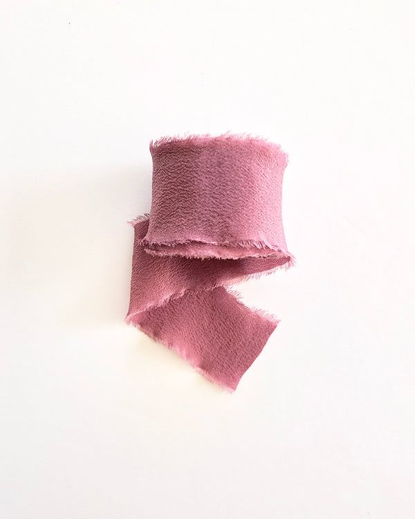 Dusty Pink Silk Classic Ribbon 072