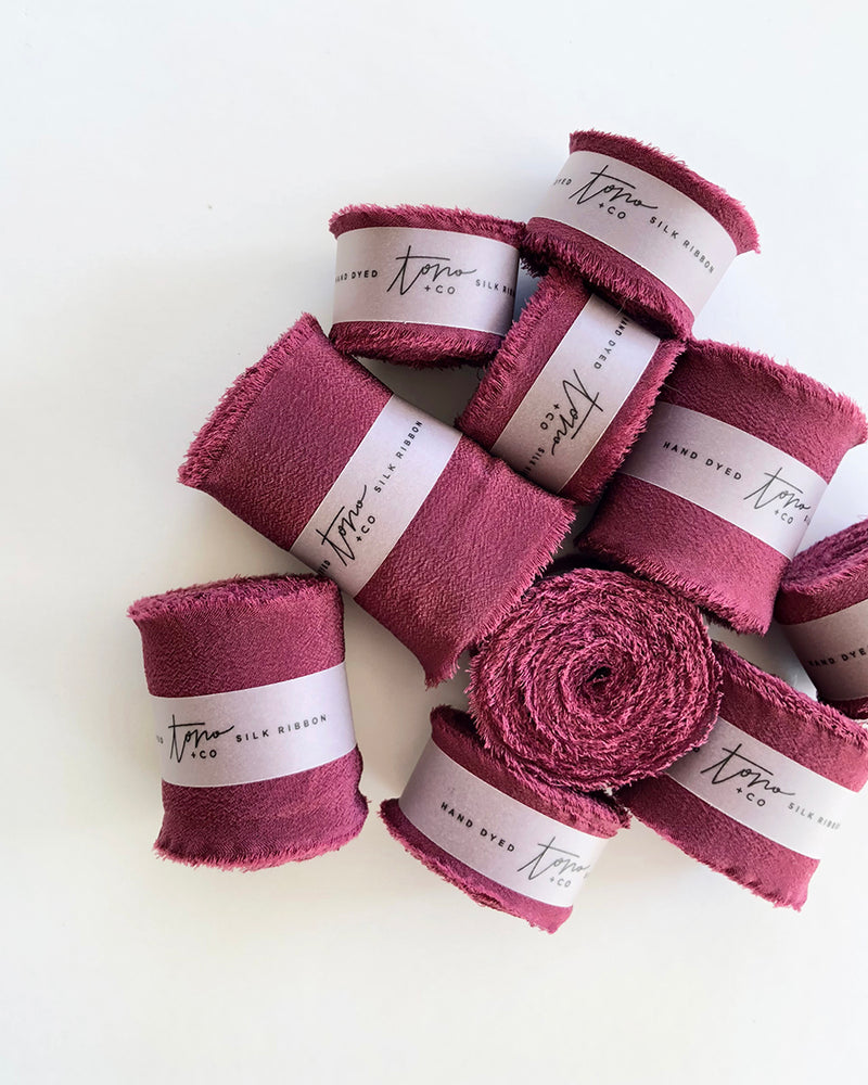 Cranberry Silk Classic Ribbon 075