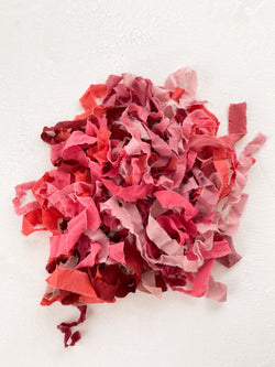 Silk Ribbon Remnants in Pink