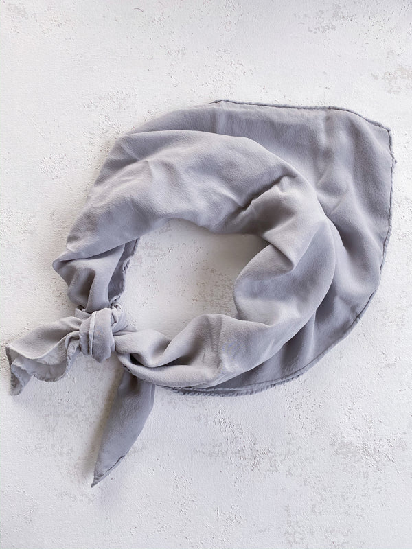 Grey Blue Silk Scarf 'The Classic' 079