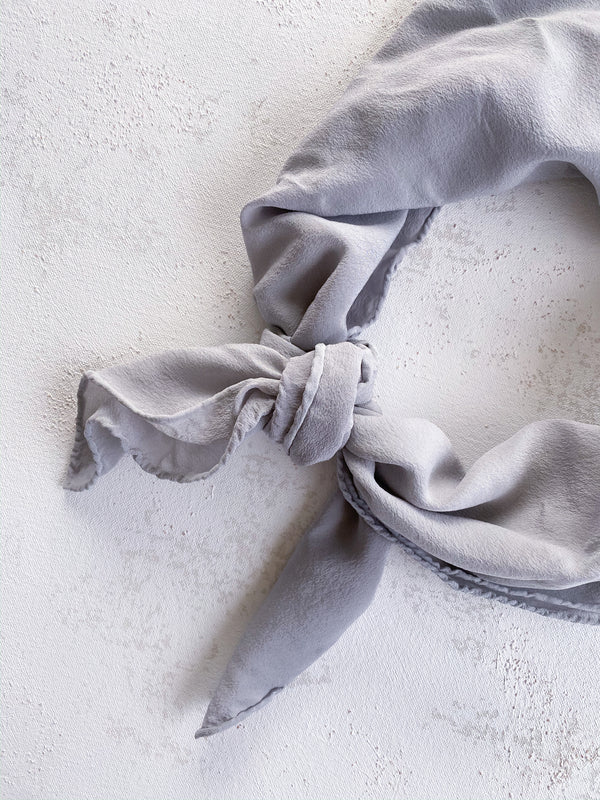Grey Silk Scarf 'The Classic' 079