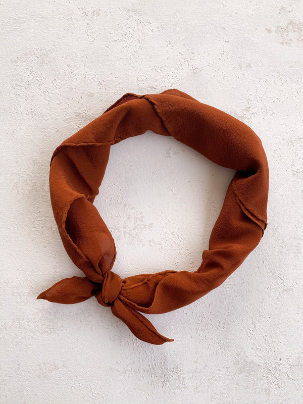 Rusty Orange Silk Scarf 'The Scout' 235